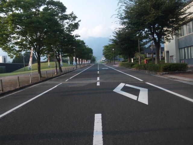 この直線道路